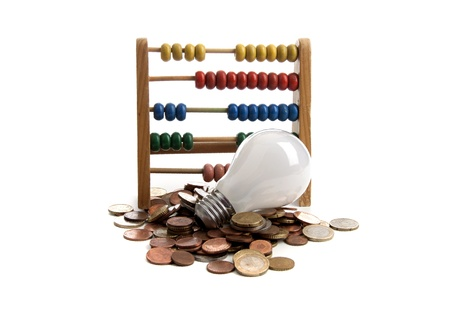 Energy saving lamp on a white background Stock Photo - 12429588