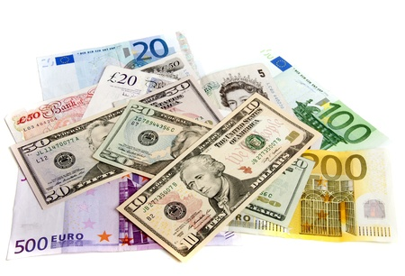 Interpretatie van de wereldwijde problemen in de financiële wereld Stockfoto