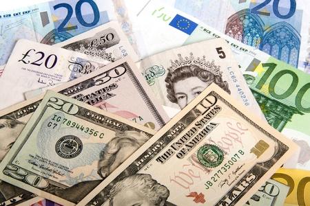 valuta: Értelmezése a világszerte probléma a pénzügyi világ Stock fotó