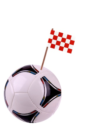 noord brabant: Soccerball or football decorated with a small national flag on a toothstick