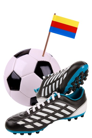 noord: Pair of cleats or football boots with a small flag of Noord Holland