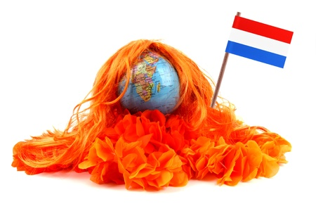 Various attributes as fan fun materials to be used at the Dutch soccer games  photo