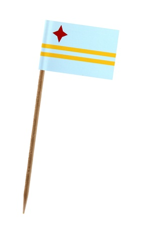 aruba flag: Tooth pick wit a small paper flag of Aruba