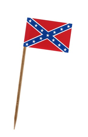rebel flag: Tooth pick wit a small paper Confederate rebel flag