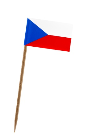 Tooth pick wit a small paper flag of Czech Republic photo
