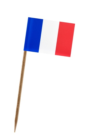Tooth pick wit a small paper flag of France