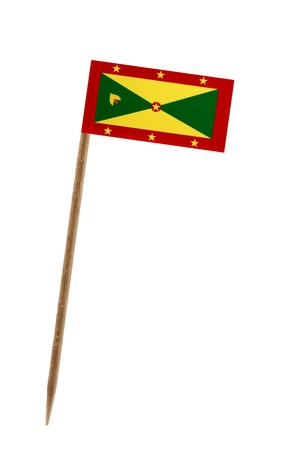 Tooth pick wit a small paper flag of Grenada photo