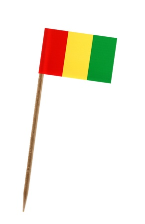 Tooth pick wit a small paper flag of Guinea photo