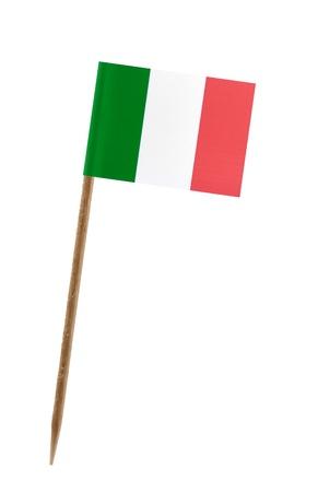 italien flagge: Zahnstocher Witz ein kleines Papier Flagge von Italien