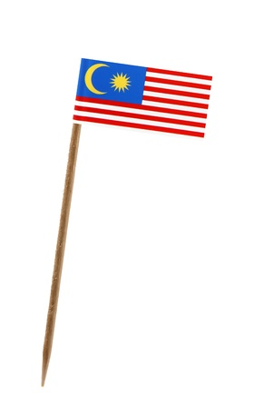 Tooth pick wit a small paper flag of Malaysia