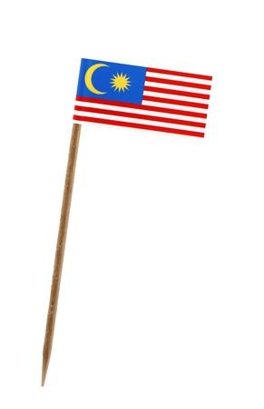 Tandenstoker wit een klein papieren vlag van Maleisië