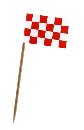 noord: Tooth pick wit a small paper flag of Noord Brabant Stock Photo
