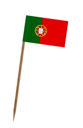 Tooth pick wit a small paper flag of Portugal photo