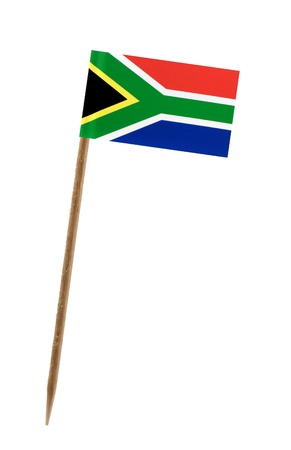 Tooth pick wit a small paper flag of South Africa
