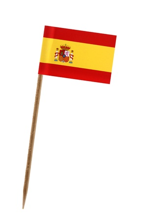 Tooth pick wit a small paper flag of Spain