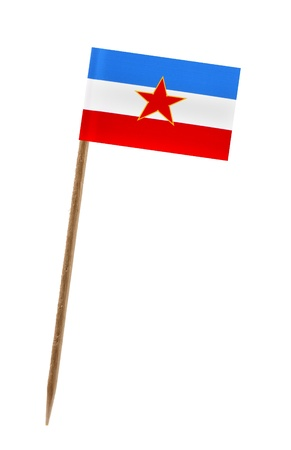 yugoslavia: Tooth pick wit a small paper flag of Yugoslavia