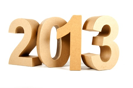 Paper numbers forming 2013 as for the new year Stock Photo