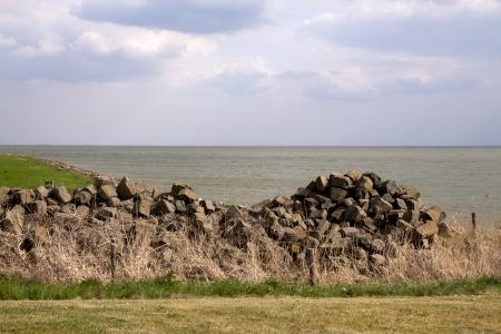 markermeer: Stones , stored for repairing dikes