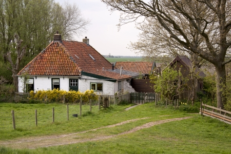 friesland: Caracteristic house in the province of Friesland in the Netherlands