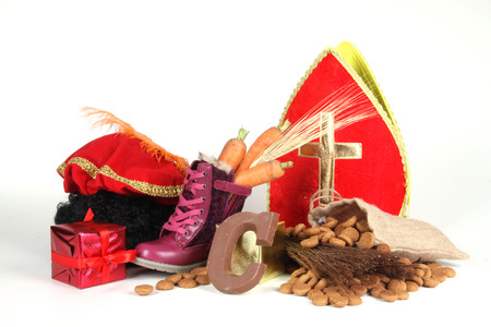 Celebrants of the Sinterklaas celebration are given their initials made out of chocolate. photo