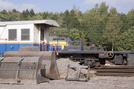 Materials en industrial equipment to build a railway photo