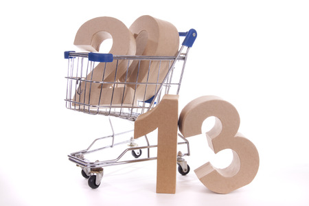 Shopping cart with products of the fall Stock Photo - 24051265