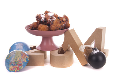 mondial: Oliebollen or Dutch donuts are made for consuming during New Years Eve