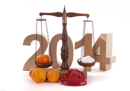 Saldo van het nieuwe jaar met medicijnen voor een goede gezondheid