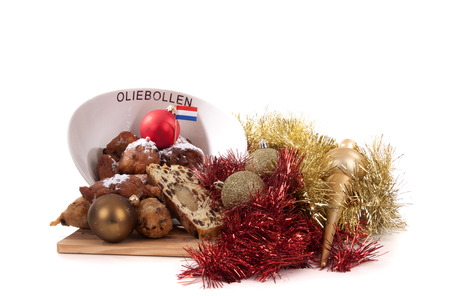 traditional Dutch oval-shaped fruited Christmas bread loaf Stock Photo - 24658876