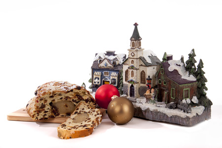 traditional Dutch oval-shaped fruited Christmas bread loaf Stock Photo - 24658915