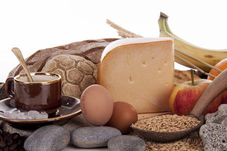 healty: Healty bread and ingedients for breakfast Stock Photo