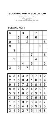 Sudoku met oplossing. Vrij te gebruiken op uw website of in print. Zoeken naar nummer in serie Stockfoto