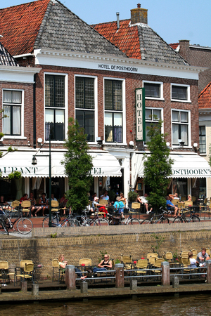 ee: Netherlands, Friesland,juni,2016: Dokkum is an fortifeid towwn.