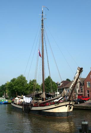 ee: Netherlands, Friesland,juni,2016: Watersports in Dokkum Editorial