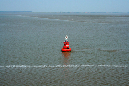Netherlands,waddenzee,-june 2016: Buoy marks the fairway