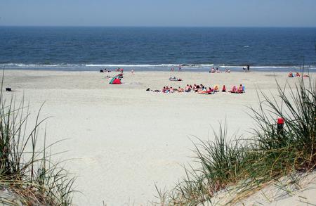 wadden: Netherlands,Ameland,Buren,july 2016: beach life on the Wadden island