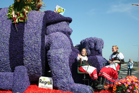 Netherlands,Lisse,march 2016:   Bloemencorso Bollenstreek is one of the flower parades in the Netherlands and one of the largest editions of the world. The event took place in the end of April, The route starts on Saturday in Noordwijk and ends in the cit