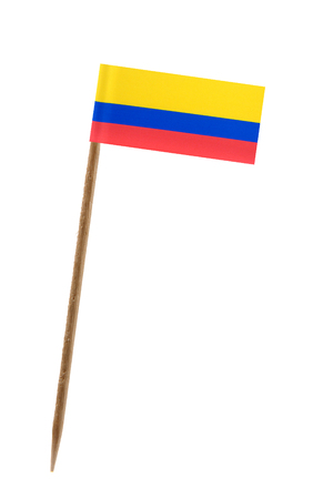 Tooth pick wit a small paper flag of Equador