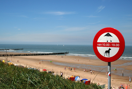 swimm: Domburg, Zeeland, june, 2016: beach and dunes of the seaside resort Editorial