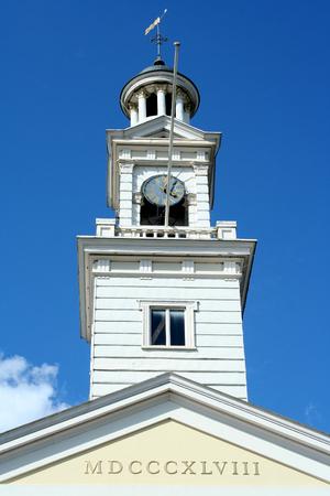 assen: Kerktoren, Jozef kerk Stock Photo