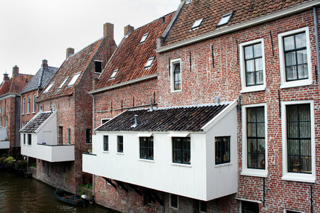 The hanging kitchens over the Damsterdiep