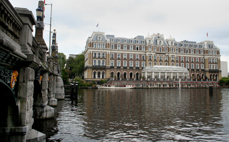 streetlife: Netherlands, Amsterdam,june 2016: The most expensive hotel of Amsterdam