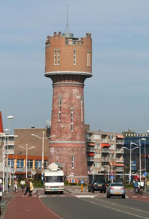 Den Helder, juli, 2016: De Nieuwe Watertoren ligt in het centrum van Den Helder