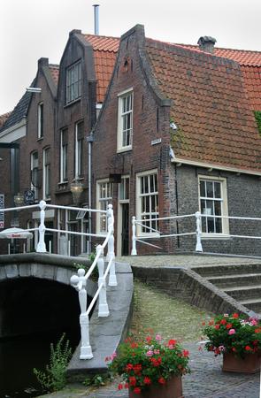 Delft, june 2016: Street, impression,city live, entrance to Kerkstraat