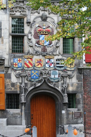 Delft, june 2016: Street, impression,city live, the conservancy along the canal Editorial