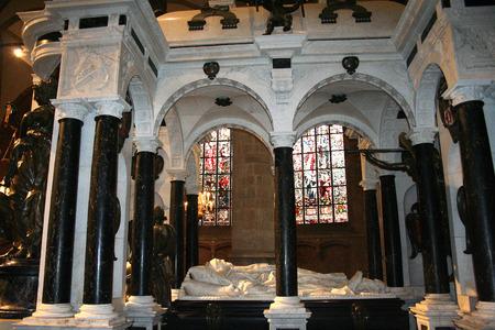 Delft, june 2016: Street, impression,city live, Mausoleum of William of Orange in the New Church