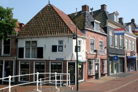Netherlands, Friesland,juni,2016: Dokkum is an fortifeid towwn, bridge over river Ee