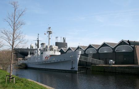 Den Helder, juli 2016: in de voormalige scheepswerf van de Koninklijke Marine is nu een museum Redactioneel