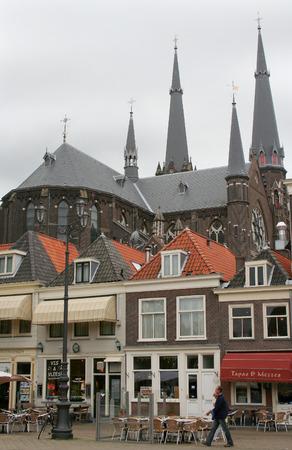 Delft, june 2016: Street, impression,city live, market place of the city
