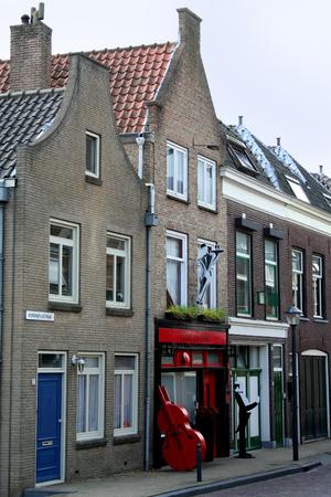 Netherlands, Gorinchem, Gorkum, June 2016: houses and streetview